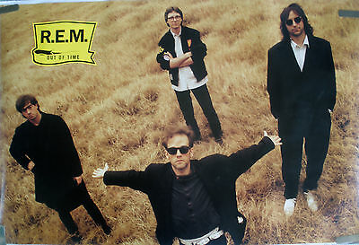 Rare R.e.m. Out Of Time 1991 Vintage Original Music Record Store Promo Poster