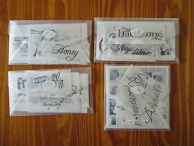 """4 x Packs Creative Memories """"Expressions of..."""" Vellum quotes NEW!"""