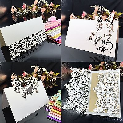 50X Flower Butterfly Laser Cut Table Name Place Cards Wedding Party Decor Favor