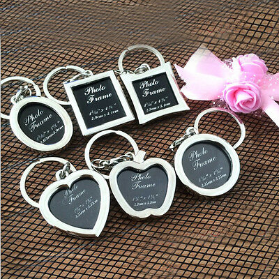 1pc Fashion Metal Alloy Insert Photo Picture Frames Keychain Craft KeyRing Gift