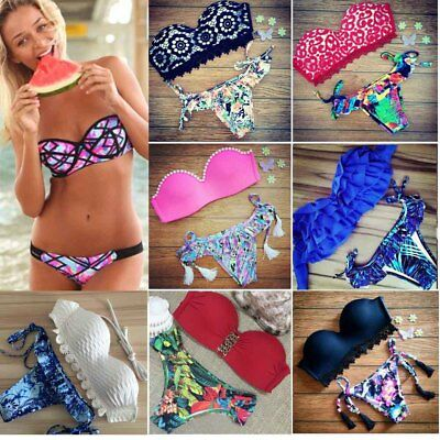 2018 Women Bikini Set Push-up Padded Bra Swimsuit Swimwear Triangle Bathing Suit