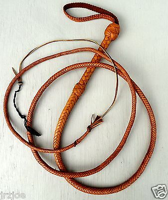 9 Foot 12 Plait Bull whip  Raiders INDIANA JONES TRICK Leather WHIP #W17