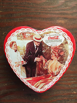 COCA-COLA heart shaped TIN holiday Valentine's Day collectible