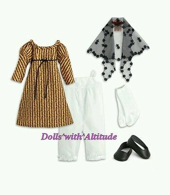 NEW AMERICAN GIRL Josefina's Holiday Outfit Christmas Dress COMPLETE SET forDoll