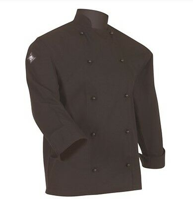Aussie Chef Classic Chef Jacket Long Sleeve Large Black