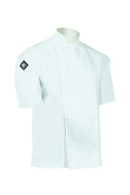 Aussie Chef Classic Chef Jacket Short Sleeve X-Large White