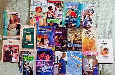 Lot of 24 Harlequin and Silhouette Romance Books