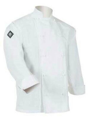 Aussie Chef Classic Chef Jacket Long Sleeve Large White