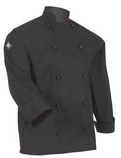 Aussie Chef Classic Chef Jacket Long Sleeve Small Black