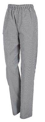 Aussie Chef Chef Trousers Check Pattern Draw String Small
