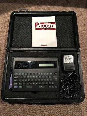 Brother P-Touch PT-20/25 Label Maker With Case And Power Supply