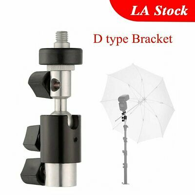 D Type Flash Bracket Umbrella Holder Swivel Light Stand Hot-shoe Flash