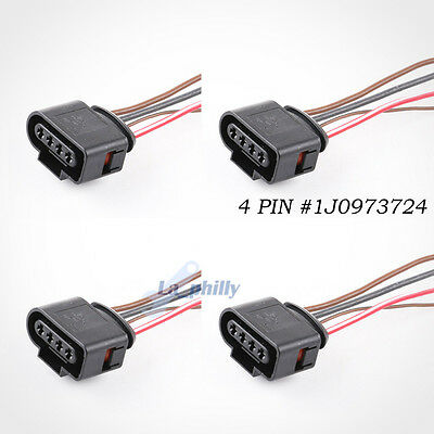 4x OEM Harness Plug Wiring For Audi VW Jetta Passat Ignition Coil Connector