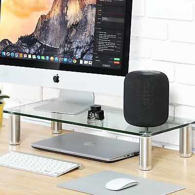 Fitueyes Clear Computer Monitor Riser Save Space Desktop Stand