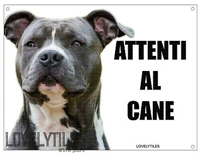 AMSTAFF mod 3 attenti al cane TARGA cartello IN METALLO 30x20