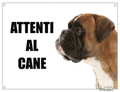 BOXER mod 1 attenti al cane TARGA cartello IN METALLO 30x20