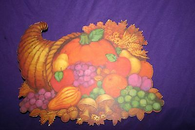 Die cut cornicopia Thanksgiving decoration Hallmark
