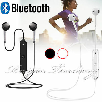 Bluetooth 4.1 Wireless Sports Headset Headphone Earphones Mic For iPhone 7 Plus