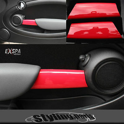 Mini One Cooper R55 R56 R57 R58 R59 Door Handle Fairing Red Shiny Gloss