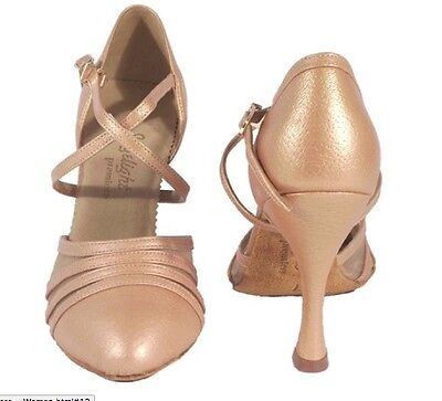 Ballroom latin dance shoes closed toe 3.5'' heels size 9 suede high quality new