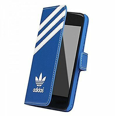 Genuine Adidas Booklet Flip Wallet Case Cover For iPhone 5s Se 5 Bluebird White