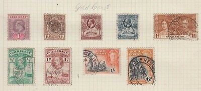 Ck2  Early Stamps From The Gold Coast Cut From An Old Album