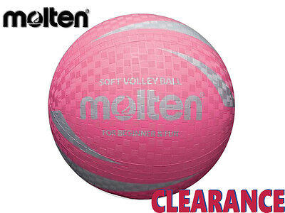 *clearance New* Molten - Soft Touch Sv2P Volleyball - Size 63-65Cm - Pink - Cb4