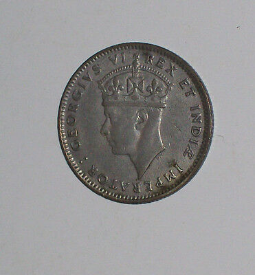 1937 British East Africa 50 Cent Silver Coin