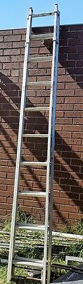 Aluminium extension ladder 3m extends to almost double