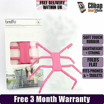 Breffo Spiderpodium Flexible Tablet Stand Holder iPad iPhone Camera Kids Pink