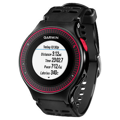Garmin Forerunner 225 Running Sports Watch GPS Wrist HRM Heart Rate Black/Red