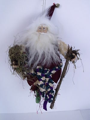 Santa Jester Christmas Figure Holiday Ornament 9""