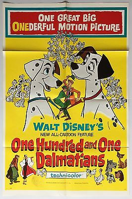 101 Dalmations, US 1 sheet, Film/ Movie poster, 1961, Disney