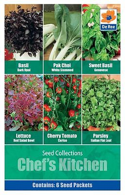 SEED Collection Pack - CHEF'S KITCHEN, BASIL, LETTUCE, TOMATO