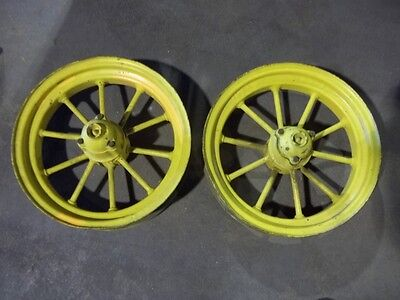 John Deere D Gp  Tractor F&h Round Spoke Front Wheels