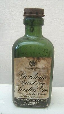 Victorian Gordons Special Dry Gin Labelled/Capped Green Empty Bottle Trademarked