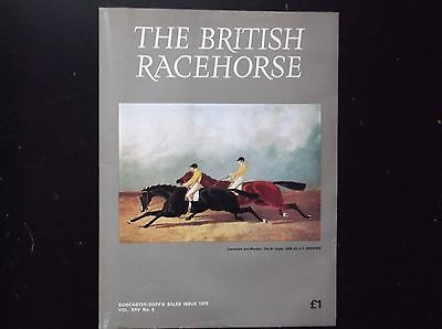"""""""the British Racehorse"""" Magazine Doncaster Sales Issue 1973"""