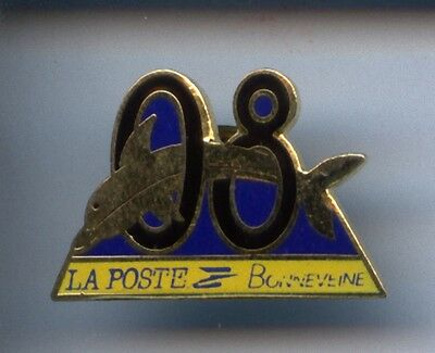 Rare Pins Pin's .. Animal Dauphin Dolphin La Poste Bonneveine Marseille 13 ~Cd