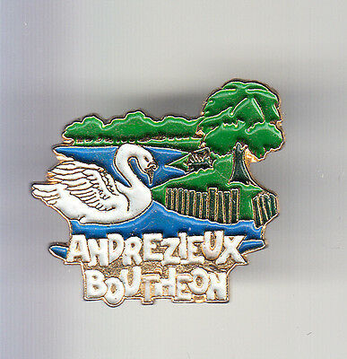 Rare Pins Pin's .. Animal Oiseau Bird Cygne Swan Andrezieux Boutheon 42 ~Bn