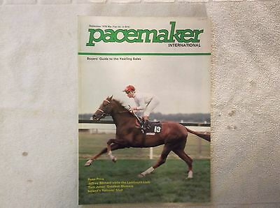 """""""pacemaker"""" Magazine Sept. 1978 Exdirectory & Pat Eddery On Cover"""