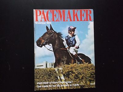 Pacemaker Magazine Nov. 1973 Well Oiled & Ron Barry On Cover