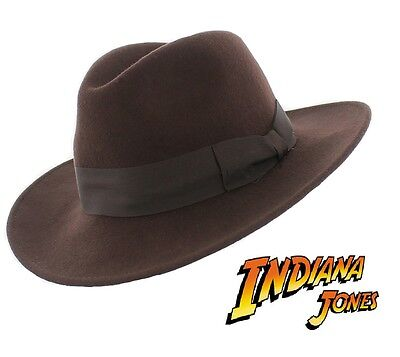 Brown Wool Fedora/Adventurer in the style of Indiana Jones