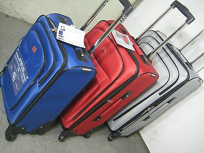 """Swiss Gear Luggage Set Lightweight 3 pieces: 28"""", 24"""", 20""""inch Grey, Red or Blue"""