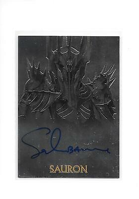 The Lord of the Rings Trilogy Chrome Sala Baker as Sauron Auto Autograph