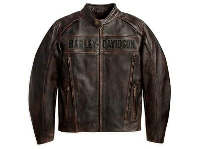 Harley-Davidson Roadway Leather Jacket * Gr. XXL - Leder Jacke Braun
