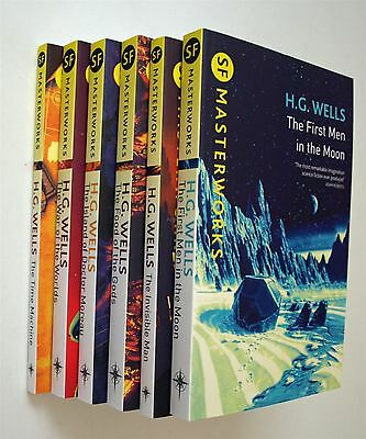 H G Wells 6 Book Pack Science Fiction Sci Fi Masterworks incl. Time Machine New