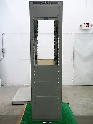 "Harlo Heavy Steel 84"" x 19"" x 10"" 48U 19"" Server AV Equipment Rack (ENC2346)"