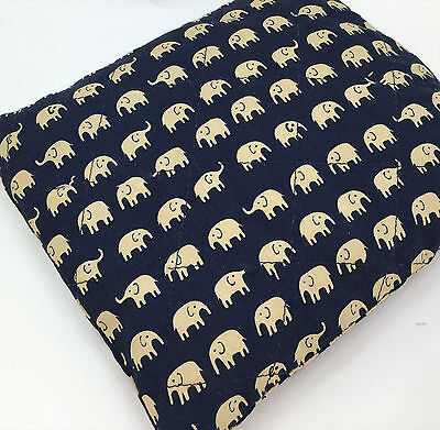Beige Elephants - heating/cooling pad filled with cherry stones, 20x20cm