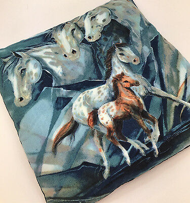 White Horses - heating/cooling pad filled with cherry stones, 22x22cm