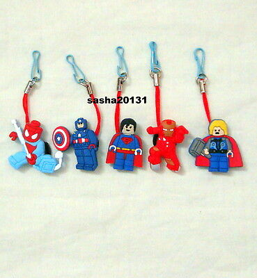 5 Lego Movies  Themed Zipper Pull Charms,brand New